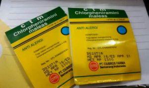 Harga Obat Antihistamin CTM
