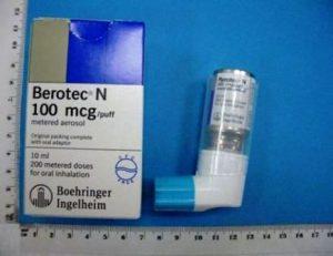 Harga Inhaler Asma Berotec Free CFC 100 mg